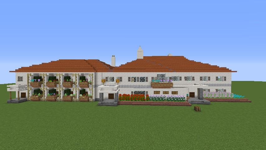 Minecrafterししゃもがマインクラフトでぷっこ村にイギリス館を建てて紹介する4