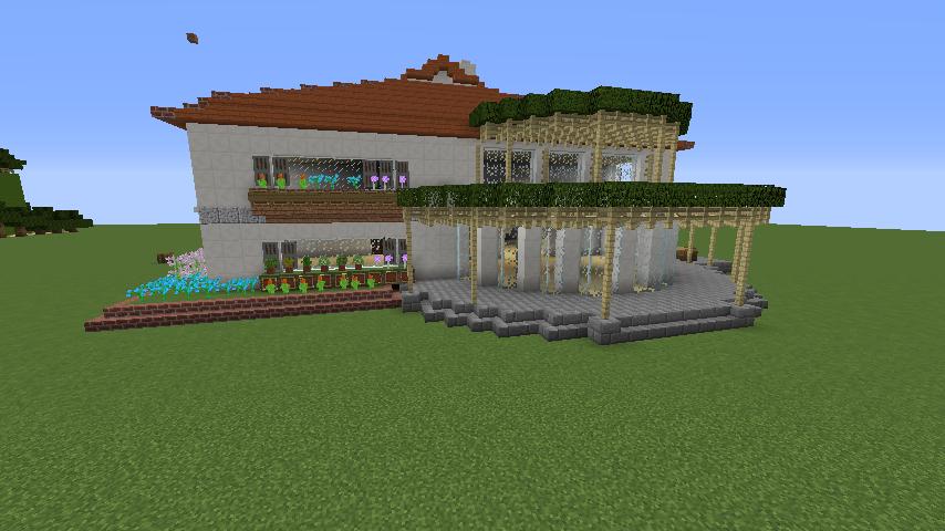 Minecrafterししゃもがマインクラフトでぷっこ村にイギリス館を建てて紹介する5