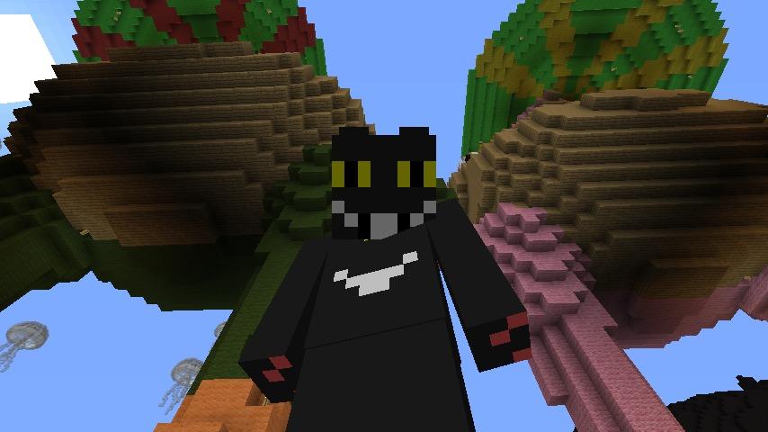 ある日のぷっこ村Minecrafterししゃもがマインクラフトでぷっこ村にカエルの置物を作る4