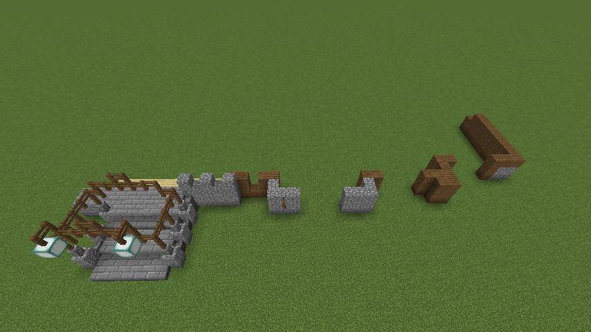 Minecrafterししゃもがマインクラフトでぷっこ村にデザイナーズログハウスを建てる2
