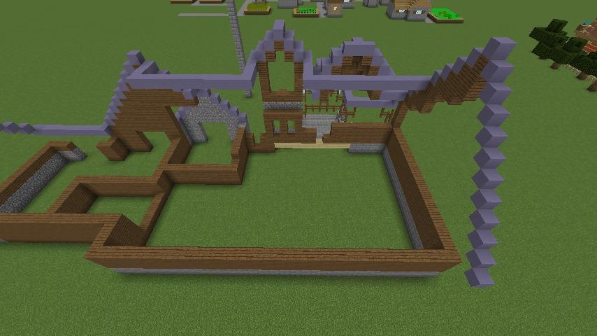 Minecrafterししゃもがマインクラフトでぷっこ村にデザイナーズログハウスを建てる5
