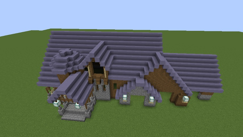 Minecrafterししゃもがマインクラフトでぷっこ村にデザイナーズログハウスを建てる7