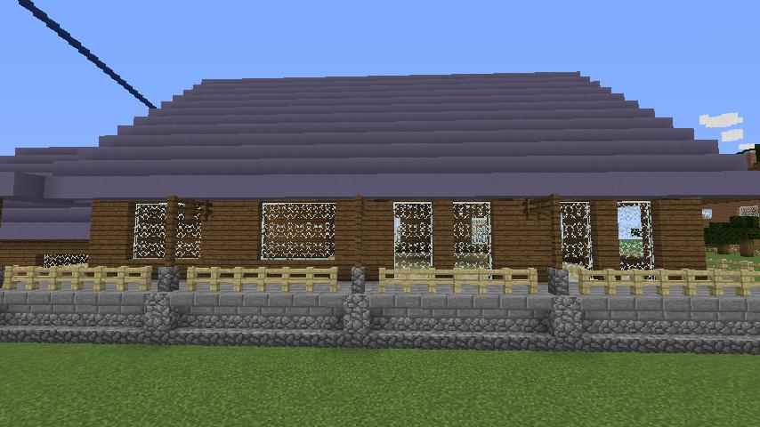 Minecrafterししゃもがマインクラフトでぷっこ村にデザイナーズログハウスを建てる8