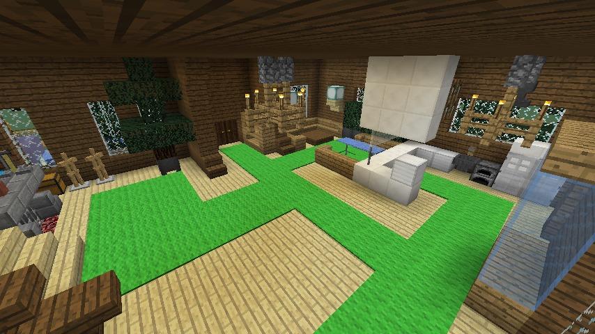 Minecrafterししゃもがマインクラフトでぷっこ村にデザイナーズログハウスを建てる12