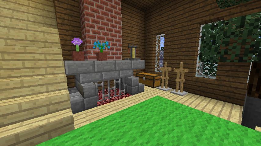 Minecrafterししゃもがマインクラフトでぷっこ村にデザイナーズログハウスを建てる13