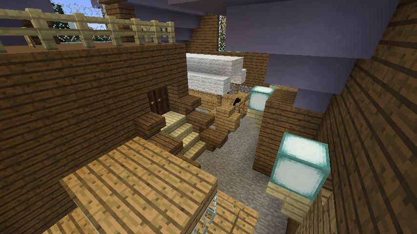 Minecrafterししゃもがマインクラフトでぷっこ村にデザイナーズログハウスを建てる14