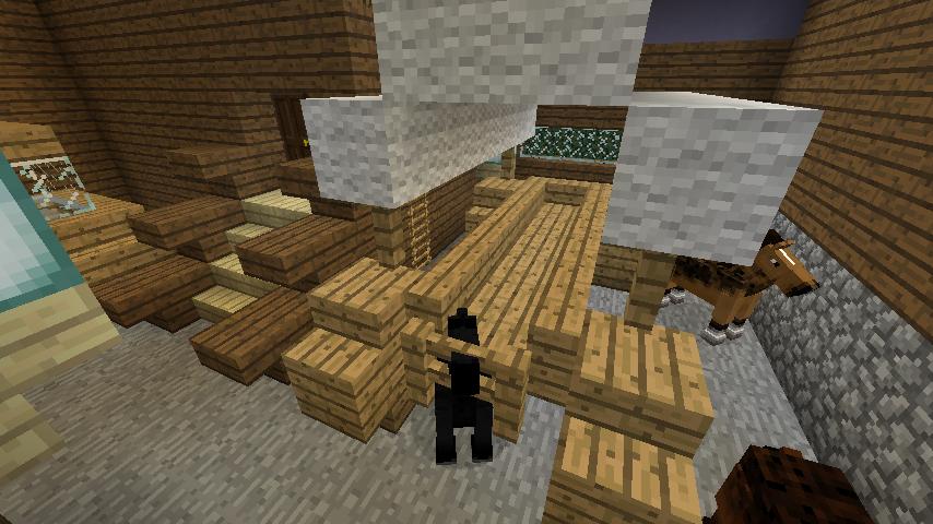 Minecrafterししゃもがマインクラフトでぷっこ村にデザイナーズログハウスを建てる15