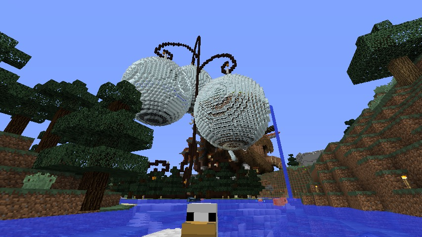 Minecrafterししゃもがマインクラフトでぷっこ村の水源を訪ねるツアーを開催する8