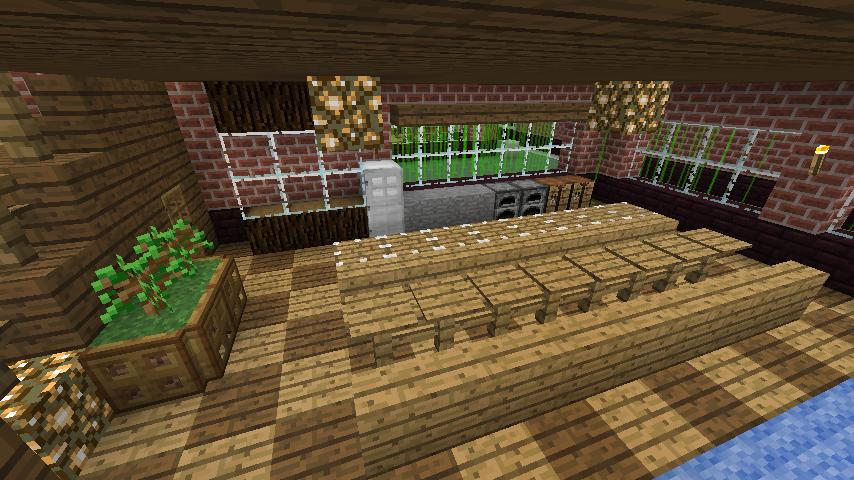 Minecrafterししゃもがマインクラフトでレンガのアパートをリフォームする3