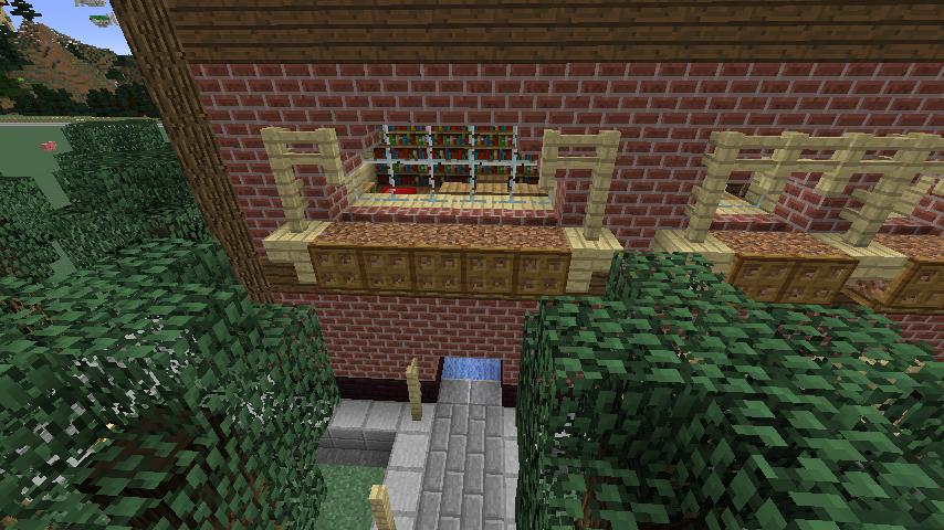 Minecrafterししゃもがマインクラフトでレンガのアパートをリフォームする7