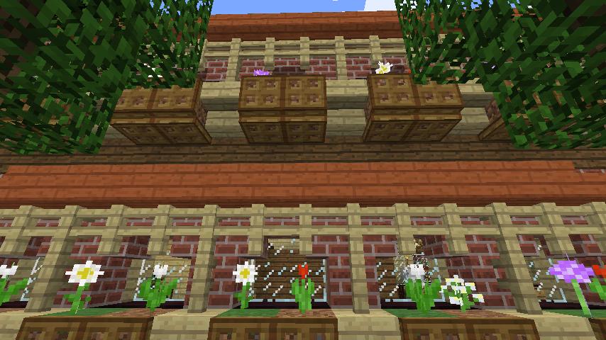 Minecrafterししゃもがマインクラフトでレンガのアパートをリフォームする9