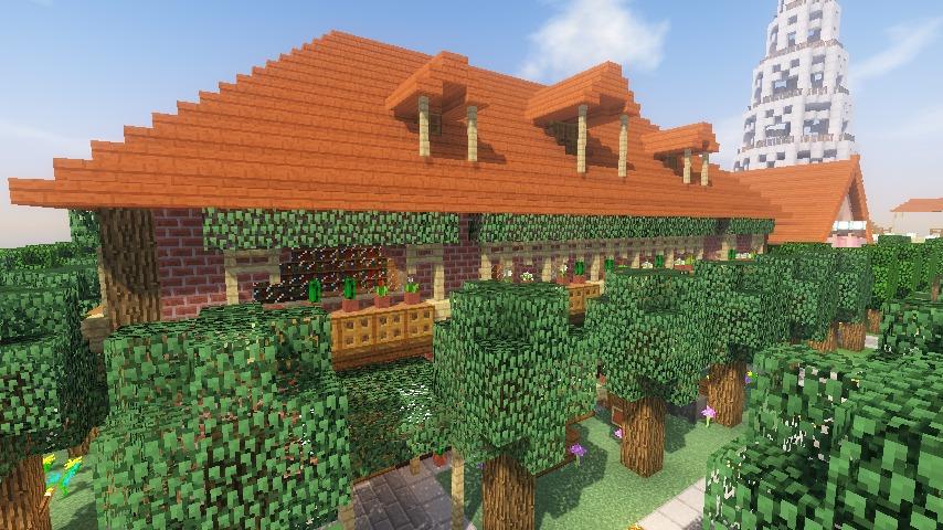 Minecrafterししゃもがマインクラフトでレンガのアパートをリフォームする20