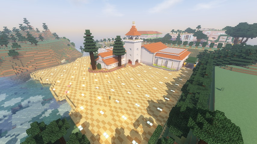 Minecrafterししゃもがマインクラフトでぷっこ村に綾ワイナリーをモデルにした金曜日のオレ工場を建設する11
