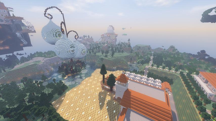 Minecrafterししゃもがマインクラフトでぷっこ村に綾ワイナリーをモデルにした金曜日のオレ工場を建設する13