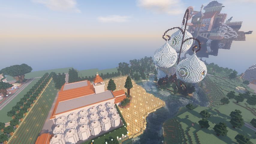 Minecrafterししゃもがマインクラフトでぷっこ村に綾ワイナリーをモデルにした金曜日のオレ工場を建設する12