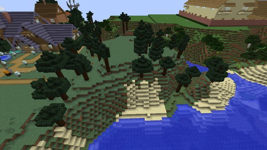 Minecrafterししゃもがマインクラフトでぷっこ村に移住者受け入れのためのデザイナーズログハウスを建てる1