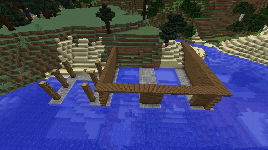 Minecrafterししゃもがマインクラフトでぷっこ村に移住者受け入れのためのデザイナーズログハウスを建てる2