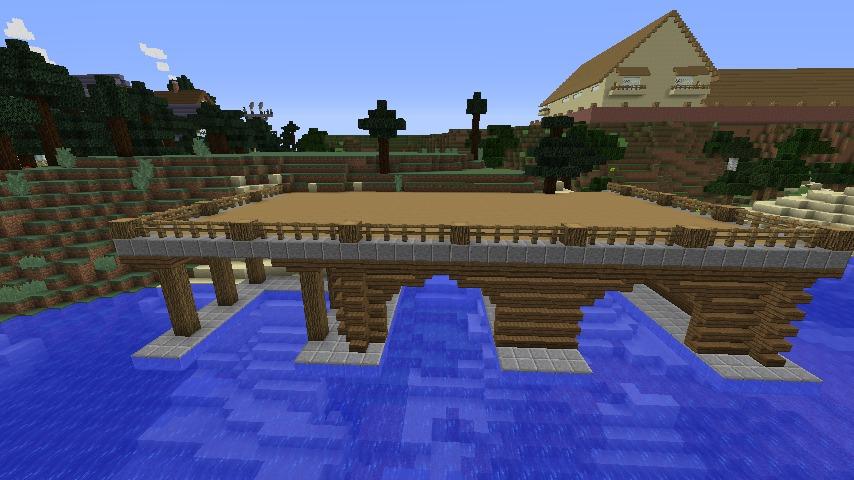 Minecrafterししゃもがマインクラフトでぷっこ村に移住者受け入れのためのデザイナーズログハウスを建てる3