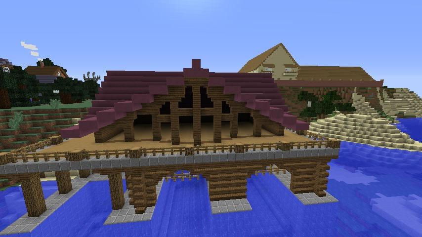 Minecrafterししゃもがマインクラフトでぷっこ村に移住者受け入れのためのデザイナーズログハウスを建てる5