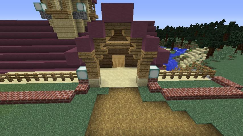 Minecrafterししゃもがマインクラフトでぷっこ村に移住者受け入れのためのデザイナーズログハウスを建てる8