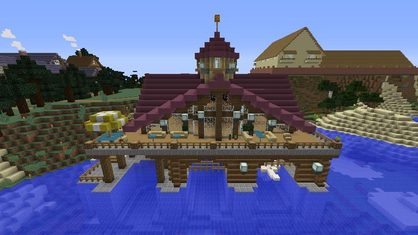 Minecrafterししゃもがマインクラフトでぷっこ村に移住者受け入れのためのデザイナーズログハウスを建てる7