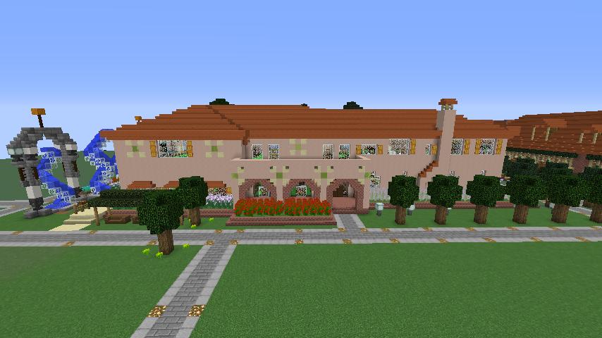 Minecrafterししゃもがマインクラフトでぷっこ村に結婚式ができるホールを作る8