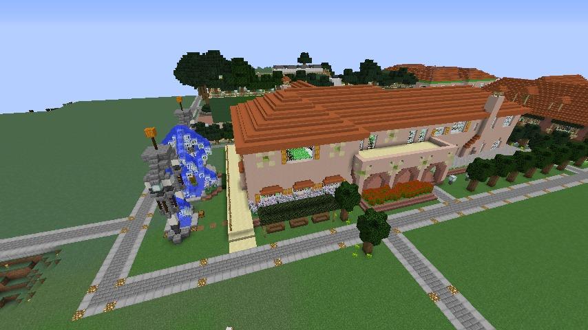Minecrafterししゃもがマインクラフトでぷっこ村に結婚式ができるホールを作る9