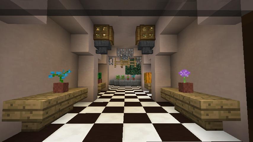 Minecrafterししゃもがマインクラフトでぷっこ村に結婚式ができるホールを作る12