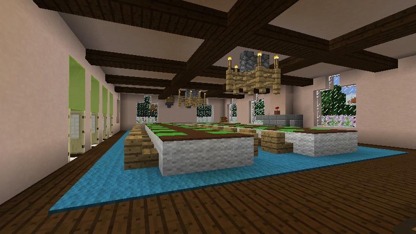 Minecrafterししゃもがマインクラフトでぷっこ村に結婚式ができるホールを作る13