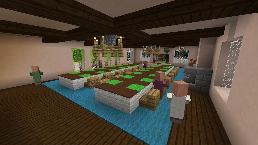 Minecrafterししゃもがマインクラフトでぷっこ村に結婚式ができるホールを作る14