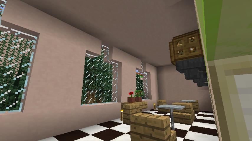 Minecrafterししゃもがマインクラフトでぷっこ村に結婚式ができるホールを作る15