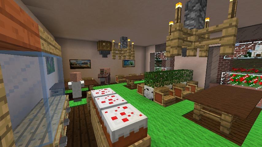 Minecrafterししゃもがマインクラフトでぷっこ村に結婚式ができるホールを作る16