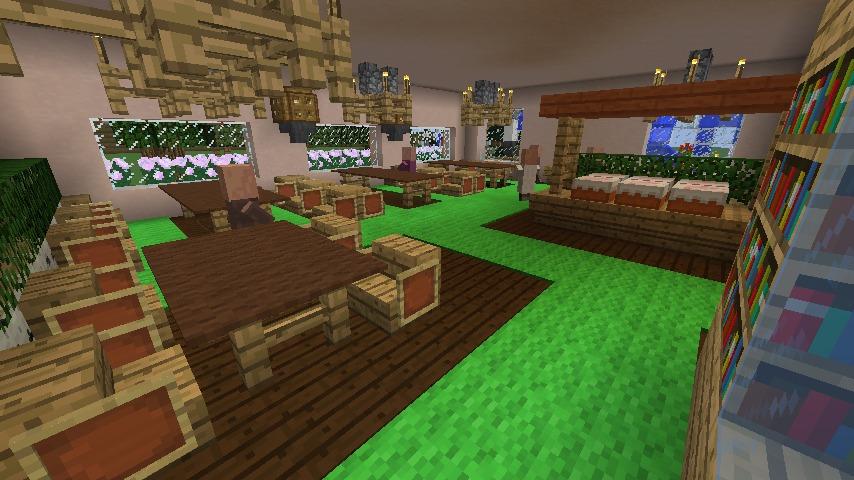Minecrafterししゃもがマインクラフトでぷっこ村に結婚式ができるホールを作る17