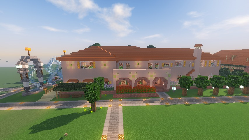 Minecrafterししゃもがマインクラフトでぷっこ村に結婚式ができるホールを作る18