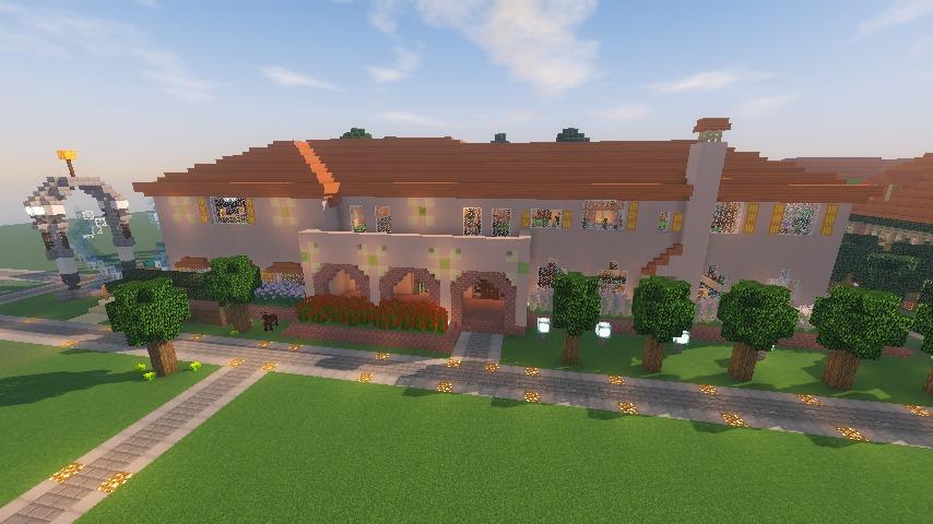 Minecrafterししゃもがマインクラフトでぷっこ村に結婚式ができるホールを作る19