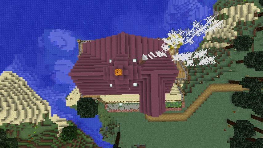 Minecrafterししゃもがマインクラフトでぷっこ村に移住者受け入れのためのデザイナーズログハウスを建てる12