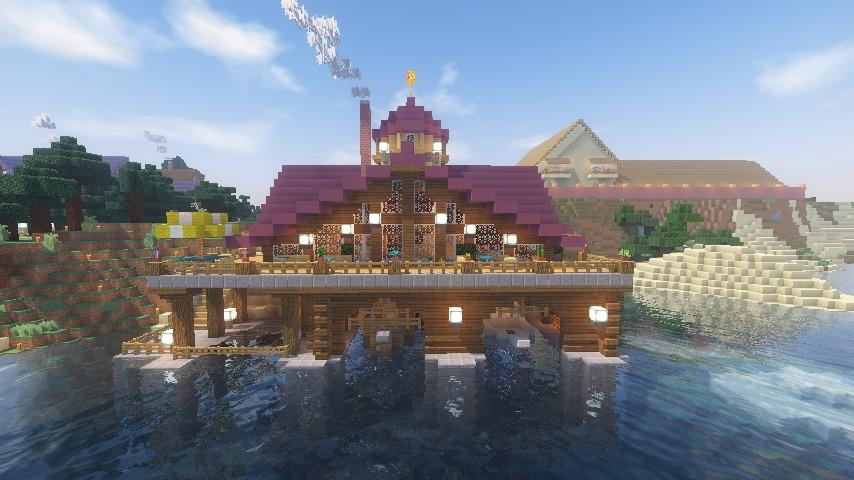 Minecrafterししゃもがマインクラフトでぷっこ村に移住者受け入れのためのデザイナーズログハウスを建てる24
