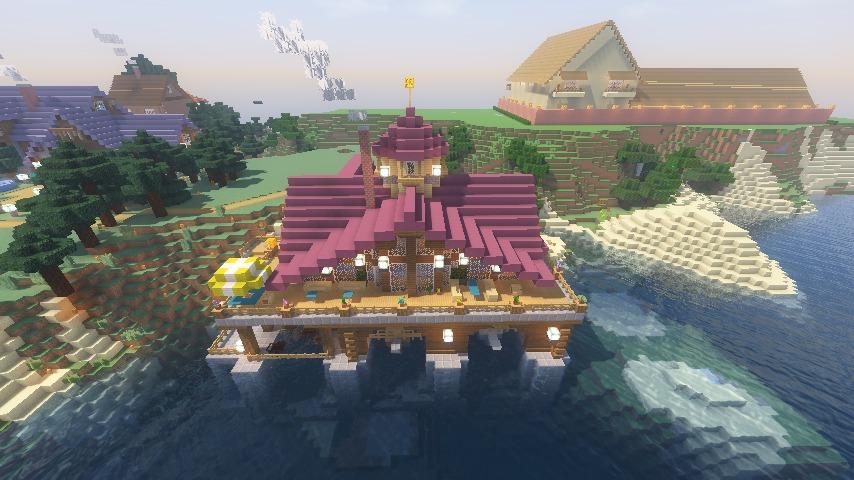 Minecrafterししゃもがマインクラフトでぷっこ村に移住者受け入れのためのデザイナーズログハウスを建てる23