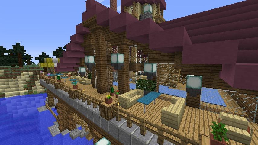 Minecrafterししゃもがマインクラフトでぷっこ村に移住者受け入れのためのデザイナーズログハウスを建てる9