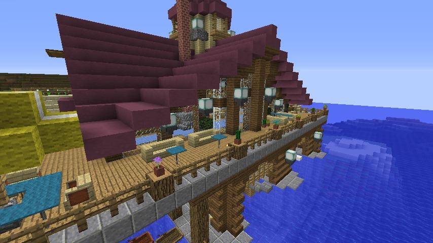 Minecrafterししゃもがマインクラフトでぷっこ村に移住者受け入れのためのデザイナーズログハウスを建てる10