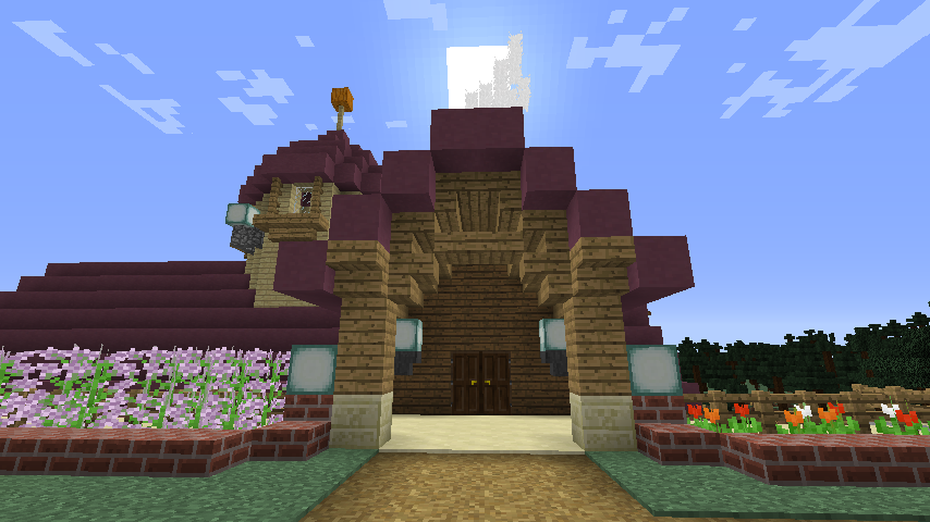 Minecrafterししゃもがマインクラフトでぷっこ村に移住者受け入れのためのデザイナーズログハウスを建てる13