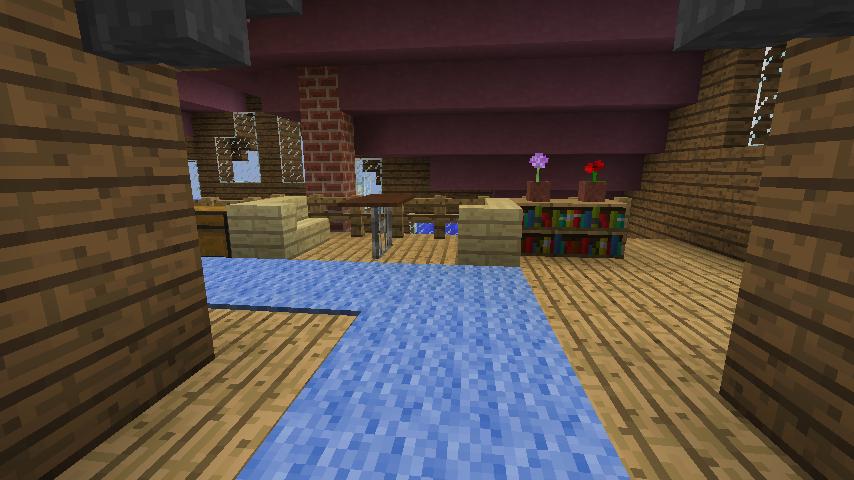 Minecrafterししゃもがマインクラフトでぷっこ村に移住者受け入れのためのデザイナーズログハウスを建てる14