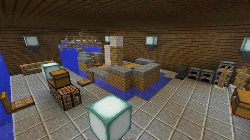 Minecrafterししゃもがマインクラフトでぷっこ村に移住者受け入れのためのデザイナーズログハウスを建てる19
