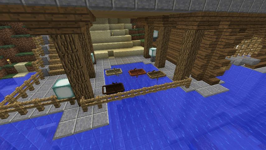Minecrafterししゃもがマインクラフトでぷっこ村に移住者受け入れのためのデザイナーズログハウスを建てる22