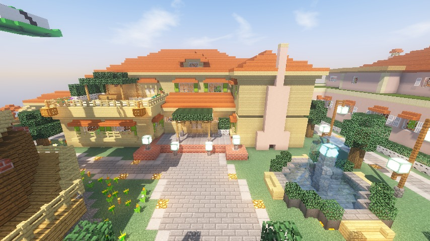 Minecrafterししゃもがマインクラフトで横浜にあるエリスマン邸をぷっこ村に再現して観光振興を図る15