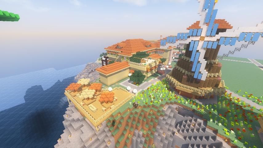 Minecrafterししゃもがマインクラフトで横浜にあるエリスマン邸をぷっこ村に再現して観光振興を図る17