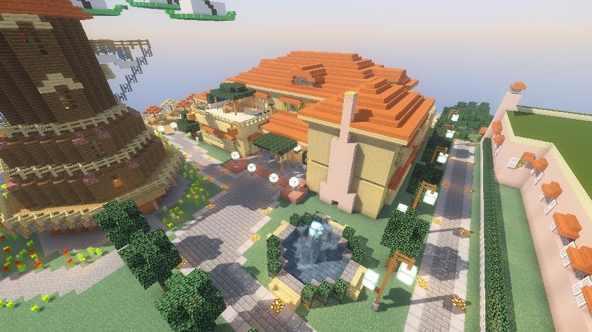 Minecrafterししゃもがマインクラフトで横浜にあるエリスマン邸をぷっこ村に再現して観光振興を図る16