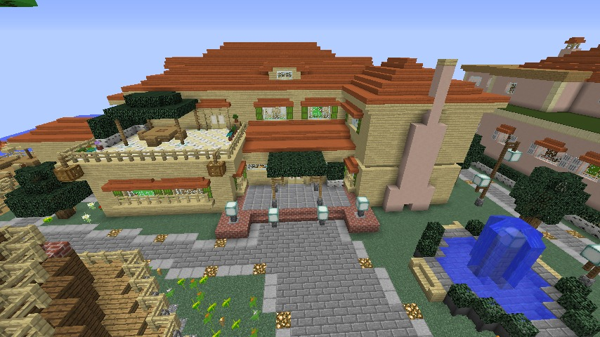 Minecrafterししゃもがマインクラフトで横浜にあるエリスマン邸をぷっこ村に再現して観光振興を図る10