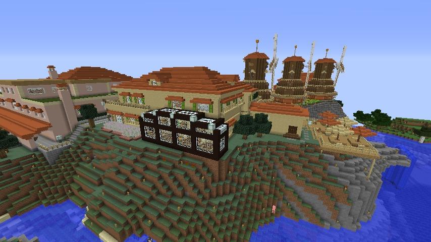 Minecrafterししゃもがマインクラフトで横浜にあるエリスマン邸をぷっこ村に再現して観光振興を図る11