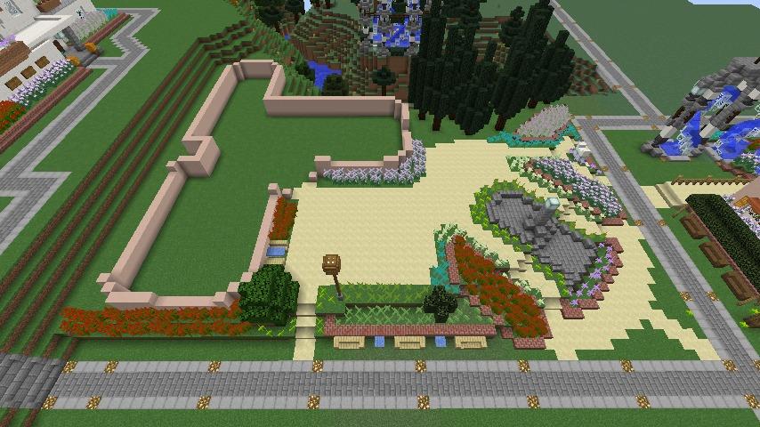 Minecrafterししゃもがマインクラフトでぷっこ村にオルゴールの森にある小さな教会を建てて結婚式場にする5
